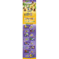 ELEPHANT JX90083 90083 Xếp hình kiểu Lego PLANTS VS ZOMBIES Plants War Plant Big Battle 8 Trận Chiến 8 Cây