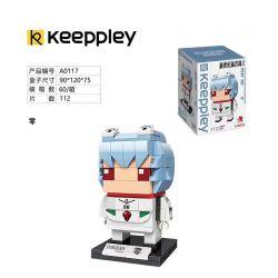 KEEPPLEY A0117 0117 Xếp hình kiểu Mini Blocks BRICKHEADZ EVA Zero Cậu Bé đầu Không Vuông 112 khối