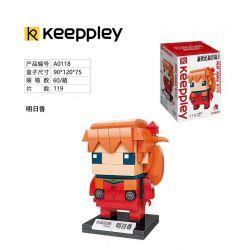KEEPPLEY A0118 0118 Xếp hình kiểu Mini Blocks BRICKHEADZ EVA Tomorrow Ngày Mai 119 khối