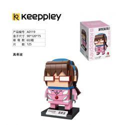 KEEPPLEY A0119 0119 Xếp hình kiểu Mini Blocks BRICKHEADZ EVA Meitawa Meitawa. 125 khối