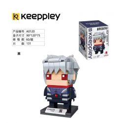 KEEPPLEY A0120 0120 Xếp hình kiểu Mini Blocks BRICKHEADZ EVA Smoked Đầu Vuông Hun Khói 131 khối