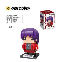 KEEPPLEY A0121 0121 Xếp hình kiểu Mini Blocks BRICKHEADZ EVA Misato Misato Houjou 116 khối