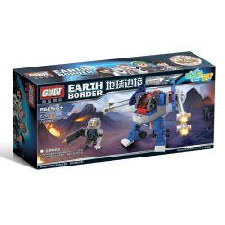 GUDI 8206A 8206B Xếp hình kiểu Lego Earth Border Woodland Assault Earth Border Anger Shelling Inspected Sentinel, Lin Land Raided The Jungle Hunting Truck Fury Oanh Tạc Kiểm Tra Lính Canh Gác, đột Kíc