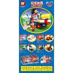 LY 7701A 7701B 7701C 7701D Xếp hình kiểu Lego MICKEY MOUSE Happy World Joyful World Touchwonderful Car Tank 4 Dream Plane, Fun Car, Festive Tank, Trunking Sports Car Xe Tăng Tuyệt Vời 4 Loại Máy Bay T