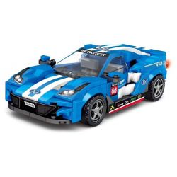 LEYI 31012 Xếp hình kiểu Lego RACING Passion Car Ford GT Ford GT. 350 khối