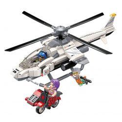 Enlighten 3211 Qman 3211 Xếp hình kiểu Lego Thunder Mission Helicopter Assault Trực Thăng Tấn Công 352 khối