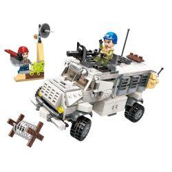 Enlighten 3212 Qman 3212 Xếp hình kiểu Lego Thunder Mission Lightning Protection Anti-ambush Xe Chống Phục Kích Chớp Nhoáng 450 khối