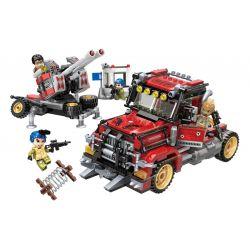 Enlighten 3213 Qman 3213 Xếp hình kiểu Lego Thunder Mission Air Missile Launcher Xe Phóng Tên Lửa Hàng Không 719 khối