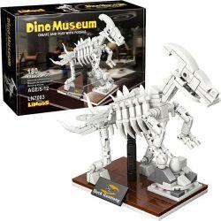 LINOOS LN7003 7003 Xếp hình kiểu Lego DINO MUSEUM Dino Museum Corythosaurus Dinosaur Museum Crown Dragon Skeleton Vương Miện Rồng Skeleton. 180 khối