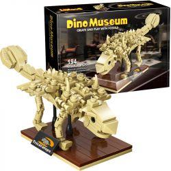 LINOOS LN7004 7004 Xếp hình kiểu Lego DINO MUSEUM Dino Museum Ankylosaurus Dinosaur Museum Organ Skeleton Bộ Xương Ankylosaurus 194 khối