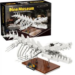 LINOOS LN7005 7005 Xếp hình kiểu Lego DINO MUSEUM Dino Museum Mosasaurus Dinosaur Museum Dragon Skeleton Bộ Xương Mosasaurus 230 khối