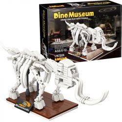 LINOOS LN7006 7006 Xếp hình kiểu Lego DINO MUSEUM Dino Museum Mammoth Dinosaur Museum Mammoth Skeleton Bộ Xương Voi Ma Mút 188 khối