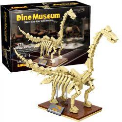 LINOOS LN7007 7007 Xếp hình kiểu Lego DINO MUSEUM Dino Museum Brachiosaurus Dinosaur Museum Wrist Dragon Skeleton Bộ Xương Brachiosaurus 179 khối