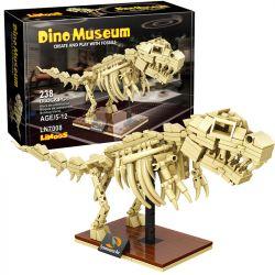 LINOOS LN7008 7008 Xếp hình kiểu Lego DINO MUSEUM Dino Museum Tyrannosaurus Rex Dinosaur Museum Overlord Dragon Skeleton Bộ Xương Khủng Long Bạo Chúa 238 khối