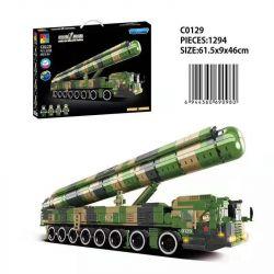 CHAOSHENG C0129 0129 WOMA C0129 0129 Xếp hình kiểu Lego WORLD OF BALLISTIC MISSILE Missile World Dongfeng-41 Intercontinental Strategy Nuclear Missile Tên Lửa Hạt Nhân Chiến Lược Liên Lục địa Dongfeng