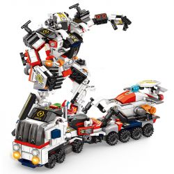 PanlosBrick 620005 Panlos Brick 620005 Xếp hình kiểu Lego SUPER WARRIOS Super Warrior Change Warrior Car Trap, Warriors, 8 Combinations Mang Theo 8 Tổ Hợp Máy Kéo Và Cơ Khí Chiến Binh