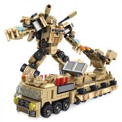 PanlosBrick 620004 Panlos Brick 620004 Xếp hình kiểu Lego SUPER WARRIOS Super Warrior Change Warrior Multi-function Artillery Car, 8 Combinations Of War Machine 8 Tổ Hợp Xe Pháo đa Chức Năng Và Cơ Giớ