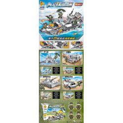 PanlosBrick 636003A 636003B 636003C 636003D Panlos Brick 636003A 636003B 636003C 636003D Xếp hình kiểu Lego PEACEMISSION Peace Mission Naval Ship 4 Combination 歼 -20 Fighter, Jeep, Armored Infantry, A