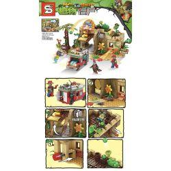SHENG YUAN SY SY1414 1414 Xếp hình kiểu Lego PLANTS VS ZOMBIES Plants Vs.Zombies Plants Vs. Zombies Mysterious Egypt Ai Cập Bí ẩn 590 khối