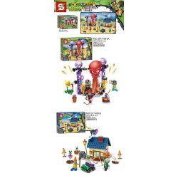 SHENG YUAN SY SY1491 1491 Xếp hình kiểu Lego PLANTS VS ZOMBIES Plants Vs.Zombies Plants Vs. Zombies 2 Dynamic Zone, Rock Era 2 Vùng Năng động, Thời Kỳ đá 581 khối
