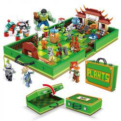 ELEPHANT JX90084 90084 Xếp hình kiểu Lego PLANTS VS ZOMBIES Plants War Plant Big Fight Kung Fu World Tote Box Kung Fu World Vali 1206 khối