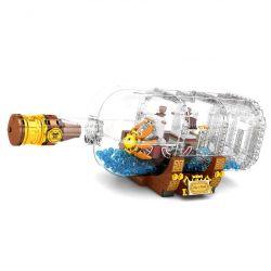 SHENG YUAN SY SY6294 6294 Xếp hình kiểu Lego ONE PIECE ONE PIECE THOUSAND SUNNY Nautical King Wanli Sunshine Bottle Bottle Tàu ánh Dương Wanli Trong Chai 568 khối