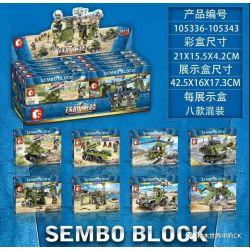 SEMBO 105336 105337 105338 105339 105340 105341 105342 105343 Xếp hình kiểu Lego IRON BLOOD HEAVY EQUIPMENT Iron Plate 8 8 Mô Hình gồm 8 hộp nhỏ