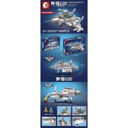 SEMBO 202037 Xếp hình kiểu Lego SKY WARS Flying Shark Shandong Shipping Q Version 歼 -15 Carrier Fighter Phiên Bản Q Của Tiêm Kích Hạm J-15 366 khối