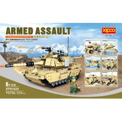 XIPOO XP91025A 91025A Xếp hình kiểu Lego TANK BATTLE M1A2 Abrams Military Series Liuheyi Abrams, United States, Main Battle Tank Xe Tăng Chiến đấu Chủ Lực Abrams Của Mỹ 929 khối