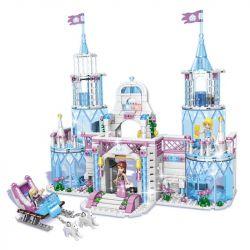 QIZHILE 50010 Xếp hình kiểu Lego FROZEN Dream Girl Ice Fantasy Castle Lâu đài Ice Fantasy. 641 khối