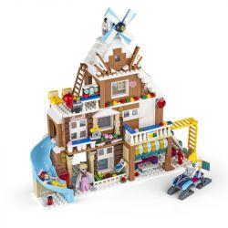 QIZHILE 50011 Xếp hình kiểu Lego FROZEN Dream Girl Sunshine Green Forest Villa Biệt Thự Sunny Greenwood 726 khối