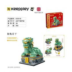 KEEPPLEY K10110 10110 Xếp hình kiểu Mini Blocks BRICKHEADZ Country Play Underworld Siêng Năng Thống Trị 292 khối