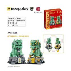 KEEPPLEY K10111 10111 K10130 10130 Xếp hình kiểu Mini Blocks BRICKHEADZ Country Play Shenwei Copper Lion Sư Tử đồng Shenwei gồm 2 hộp nhỏ 511 khối