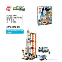 Enlighten 1140 Qman 1140 Xếp hình kiểu Lego MINECITY My City Dream Space Transmit Base Căn Cứ Phóng Không Gian Qimeng 632 khối