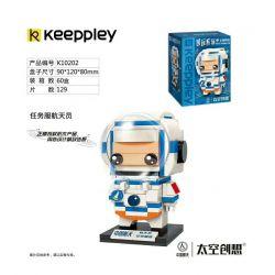 KEEPPLEY K10202 10202 Xếp hình kiểu Mini Blocks BRICKHEADZ 太空创想 Country Play Task Service Astronaut Phi Hành Gia Phục Vụ Sứ Mệnh 129 khối