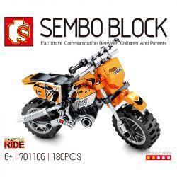 SEMBO 701106 Xếp hình kiểu Lego MOTO Enjoy The Ride Yamaha Yamaha. 180 khối