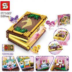 SHENG YUAN SY SY1497 1497 Xếp hình kiểu Lego MY LITTLE PONY Pony Bao Li Book In The City Lâu đài Trong Sách 546 khối