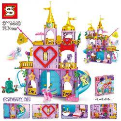 SHENG YUAN SY SY1443 1443 Xếp hình kiểu Lego MY LITTLE PONY Pony Bao Li Canterlot Castle Lâu đài Canterlot 706 khối