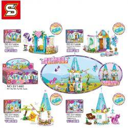 SHENG YUAN SY SY1460A 1460A SY1460B 1460B SY1460C 1460C SY1460D 1460D Xếp hình kiểu Lego MY LITTLE PONY Pony Bao Li Fantasy Pony Castle 4 Combination Dream Gardens, Magnificent House, Quiet Castle, Fl