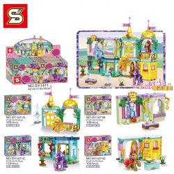SHENG YUAN SY SY1471A 1471A SY1471B 1471B SY1471C 1471C SY1471D 1471D Xếp hình kiểu Lego MY LITTLE PONY Pony Bao Li Magic Castle 4 Combined Dream Fountain, Love Bedroom, Crystal Garden, Wonderful Swee