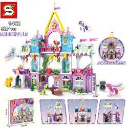 SHENG YUAN SY SY1462 1462 Xếp hình kiểu Lego MY LITTLE PONY Pony Bao Li Friendship Magic College Học Viện Pháp Thuật Hữu Nghị 920 khối