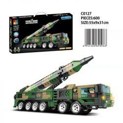 CHAOSHENG C0127 0127 WOMA C0127 0127 Xếp hình kiểu Lego WORLD OF BALLISTIC MISSILE Missile World Dongfeng-26 Mid-range Ballistic Missile Tên Lửa đạn đạo Tầm Trung Dongfeng-26 600 khối