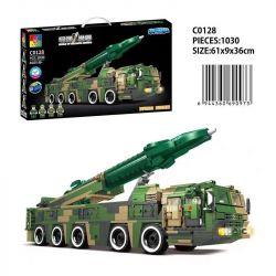 CHAOSHENG C0128 0128 WOMA C0128 0128 Xếp hình kiểu Lego WORLD OF BALLISTIC MISSILE Missile World Dongfeng-17 High Supersonic Missile Tên Lửa Siêu Thanh Dongfeng-17 1030 khối