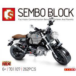 SEMBO 701107 Xếp hình kiểu Lego MOTO BMW R NineT Enjoy The Ride BMW Latte Small Motorcycle Xe Máy BMW Latte 262 khối