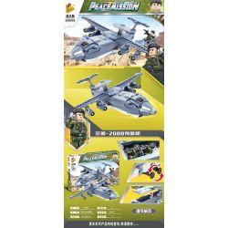 PanlosBrick 636005 Panlos Brick 636005 Xếp hình kiểu Lego PEACEMISSION Peace Mission Air Police-2000 Warning Machine Cảnh Sát Phòng Không-2000 AWACS 464 khối