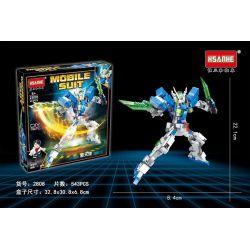 HSANHE 2808 Xếp hình kiểu Lego Mobile Suit Angel Thiên Thần Có Thể 543 khối