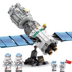 SEMBO 203302 Xếp hình kiểu Lego SPACE FLIGHT Explore The Mystery Of The Universe Board Tàu Vũ Trụ 804 khối