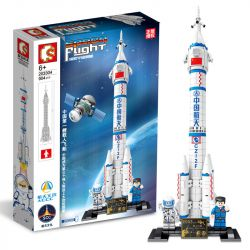 SEMBO 203304 Xếp hình kiểu Lego SPACE FLIGHT Explore The Mystery Of The Universe Manned Spacecraft Tàu Vũ Trụ Có Người Lái 904 khối