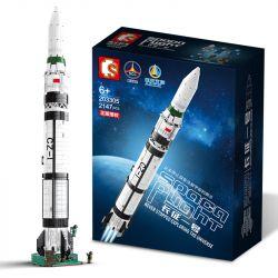 SEMBO 203305 Xếp hình kiểu Lego SPACE FLIGHT Explore The Mystery Of The Universe Long March 1 Rocket Rocket Ngày 1 Tháng 3 2147 khối