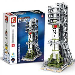 SEMBO 203306 Xếp hình kiểu Lego SPACE FLIGHT Explore The Mystery Of The Universe Oriental Red Handling Satellite Transfer Station Bệ Phóng Vệ Tinh Dongfanghong 1627 khối